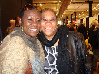 "Debbie Mitchell with LaShawn Clark- Moore. Husband Ben ""Keefe"" Clark died in 9-11 Photo courtesy Debbie Mitchell"
