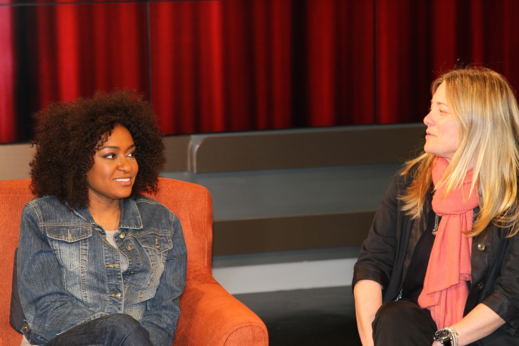 """Our Take"", Arise TV Host Christina Brown with Beatrix Parash  Photo Credit: Robb Garvey"
