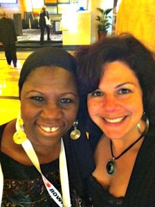 @MelanieMiddle-and-@TVProducerDeb-at-BlogHer-2012-224x300