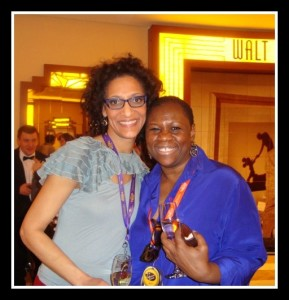 Debbie with Carla Hall from The Chew