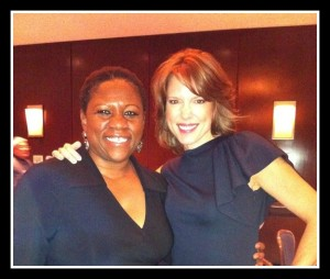 Debbie with ESPN co-anchor Hannah Storm