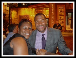 Debbie with Michael Strahan