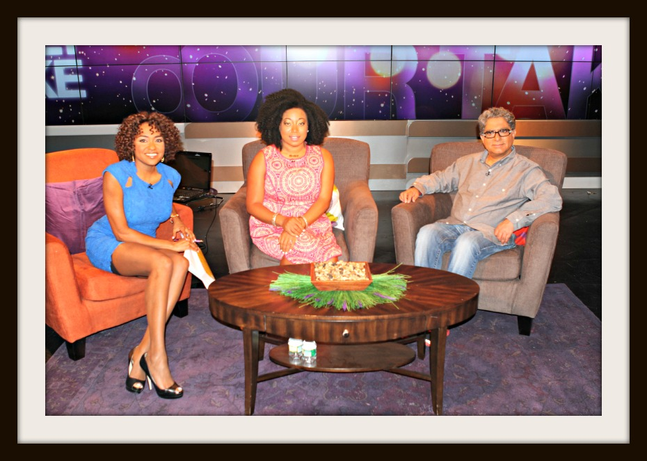 Host, Christina Brown, Guest Host Demetria Lucas and Deepak Chopra  Photo Credit: Debbie Mitchell