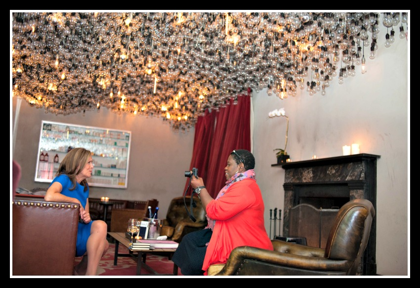 Meredith Vieira and Debbie Mitchell, Interview at LIVES with Meredith YouTube channel party