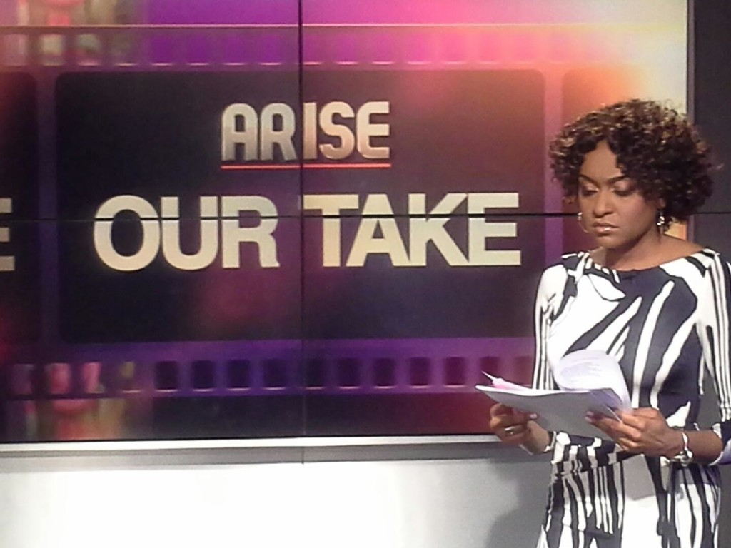 Host, Christina Brown, Our Take on Arise TV  Photo Credit: Debbie Mitchell