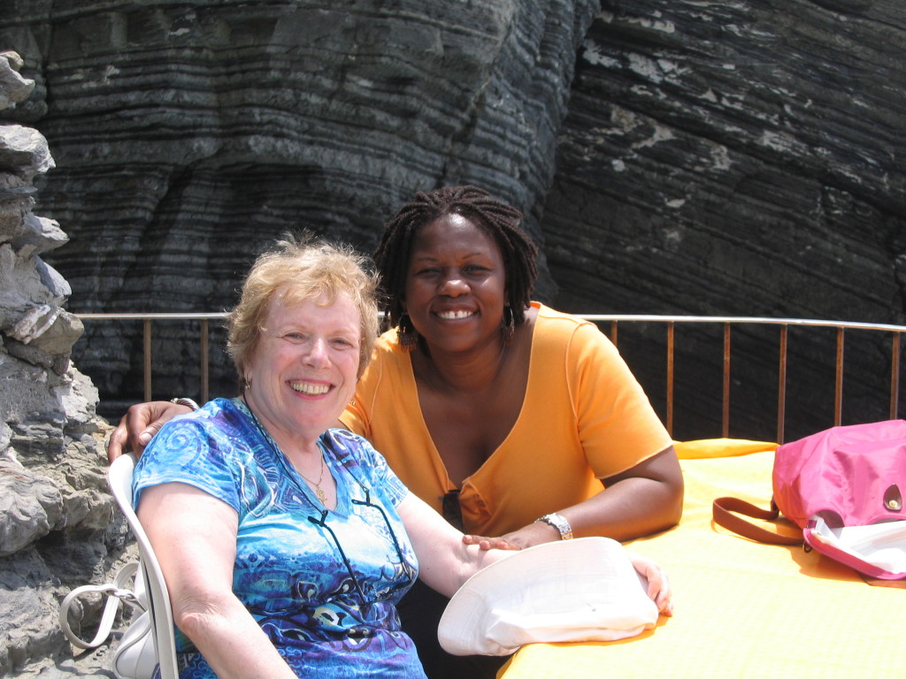 Ina and Debbie on vacation in Italy Photo courtesy Joan Massel Soncini