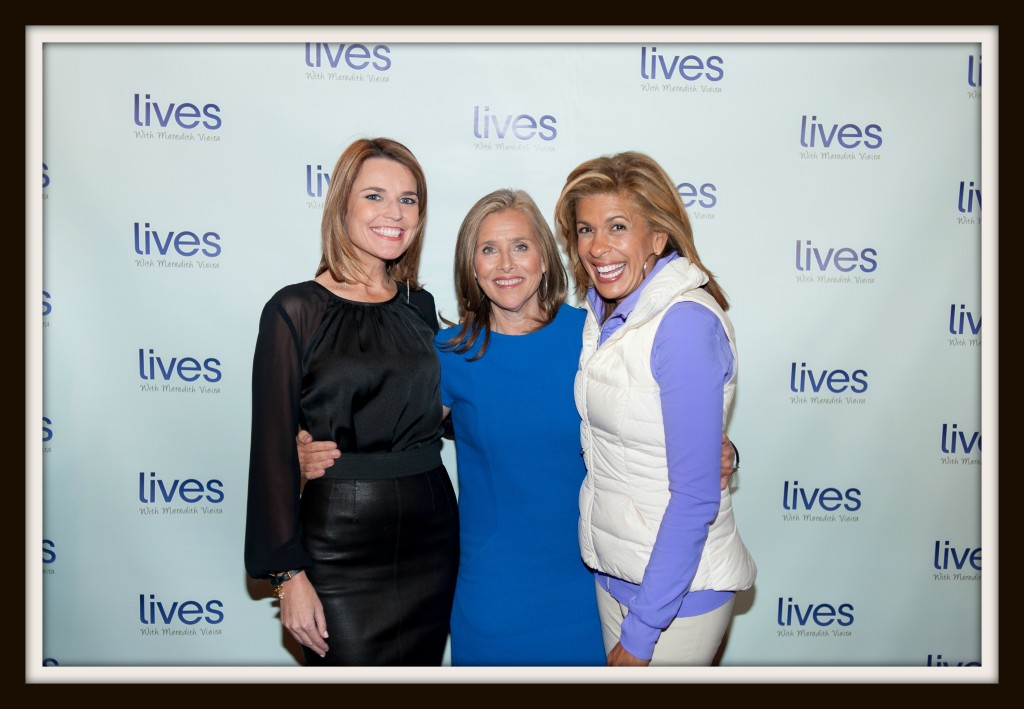 "Savannah Guthrie, Meredith Vieira, Hoda Kobe at ""LIVES with Meredith"" YouTube Channel launch. Photo Credit: Luis Ruiz"