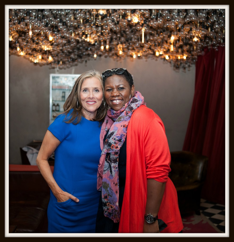 Debbie with Meredith Vieira at LIVES with Meredith YouTube channel launch party. Photo Credit: Luis Ruiz