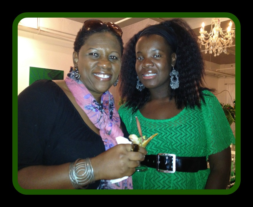 Chef Nadege Fleurimond and Debbie at Media Dinner, 2012 Photo Credit: Debbie Mitchell