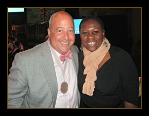 Chef Andrew Zimmern and Debbie Mitchell James Beard Broadcast and New Media Awards, 2012 Photo Credit: Debbie Mitchell