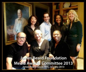 (upper left- Emerald Yeh, Ken Rubin, Toni-Tipton Martin, Carolyn O'Neil, Marion Laney, Nathalie Dupree, Debbie Mitchell Photo Credit: Carolyn O'Neil James Beard Broadcast and New Media Committee Member