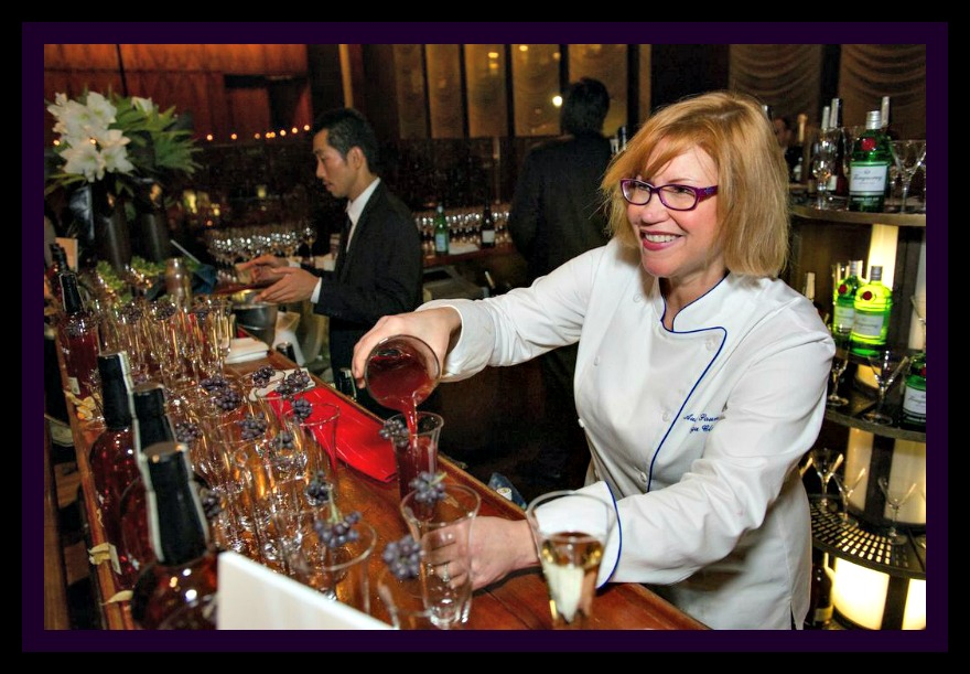 Mixologist Audrey Saunders making an Applejack Cobbler cocktail at the 2013 James Beard Foundation Women in Whites Gala hosted at the Four Seasons Restaurant in New York City on November 15. Photo by Ken Goodman.
