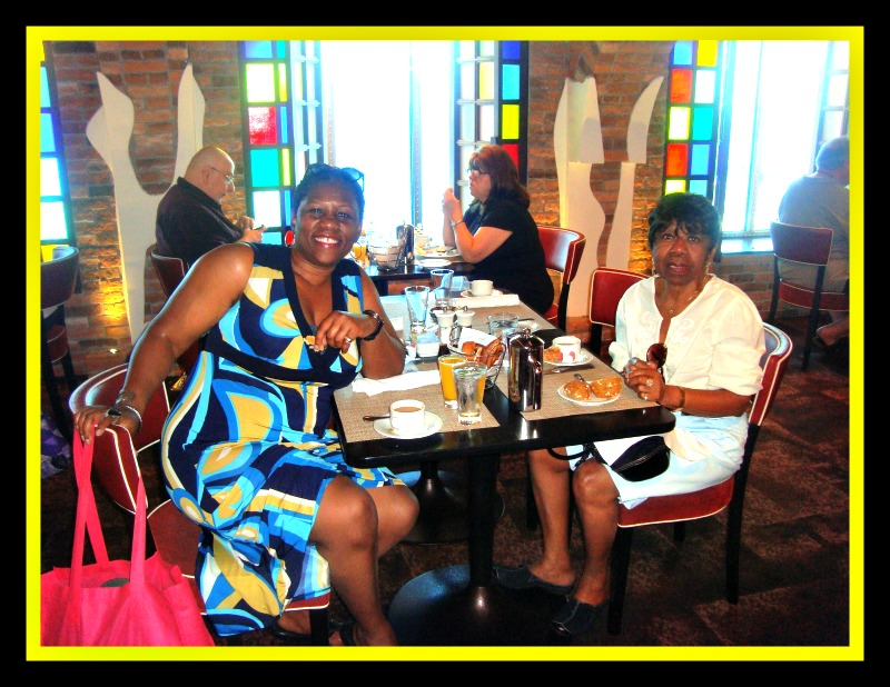 Debbie and Rita having breakfast at Taste restaurant on Norwegian Epic Photo Credit: Debbie Mitchell