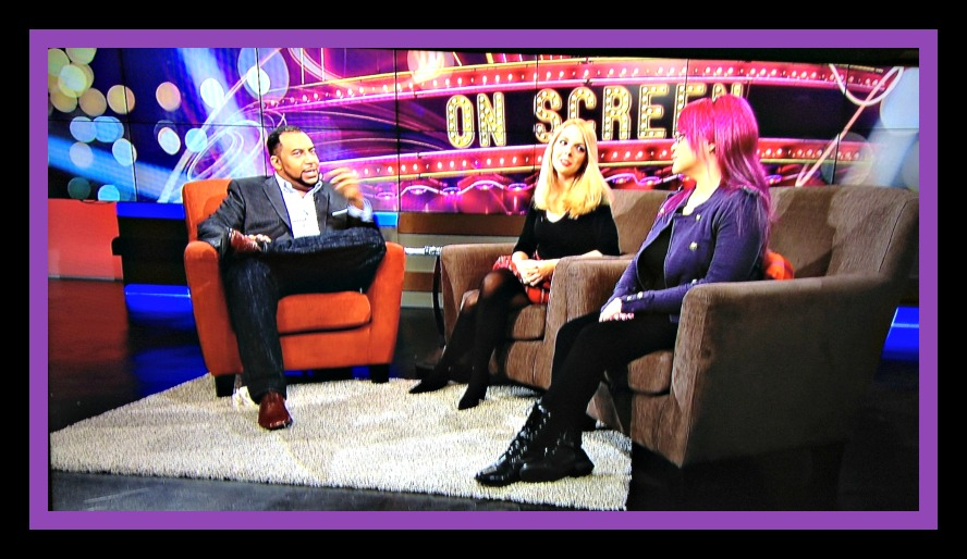 Arise On Screen with host  and film critic Mike Sargent and guest co-hosts Chiara Spagnoli Gabardi and Diva Velez Photo Credit: Debbie Mitchell