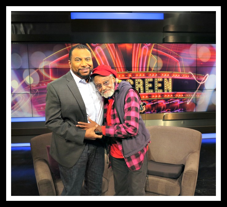 On Screen Host, Mike Sargent and Filmmaker Melvin Van  Peebles Photo Credit: Debbie Mitchell