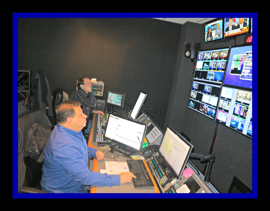 Arise On Screen Control Room with Director Larry Michaels Photo Credit: Debbie Mitchell