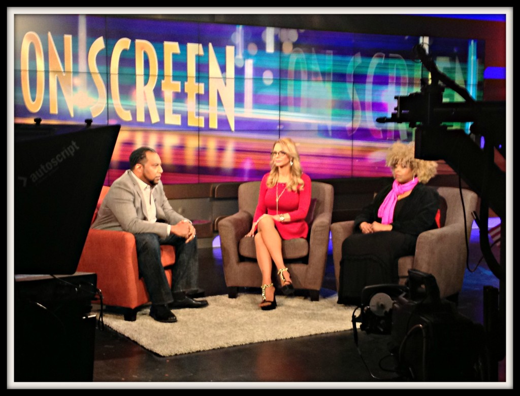 Mike Sargent with Valli Dawn Hart & Stephanie R. Green on Arise On-Screen Photo Credit: Mike Sargent
