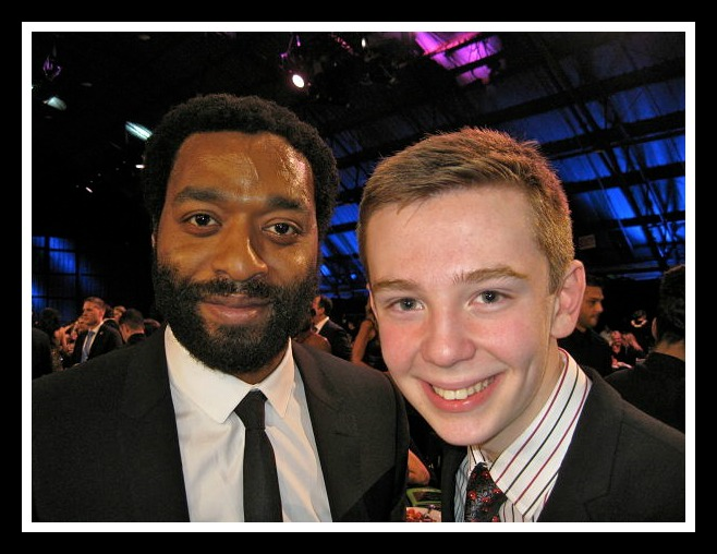 Jackson Murphy with Actor Chiwetel Ejiofor of 12 Years A Slave, Photo Credit: Jackson Murphy