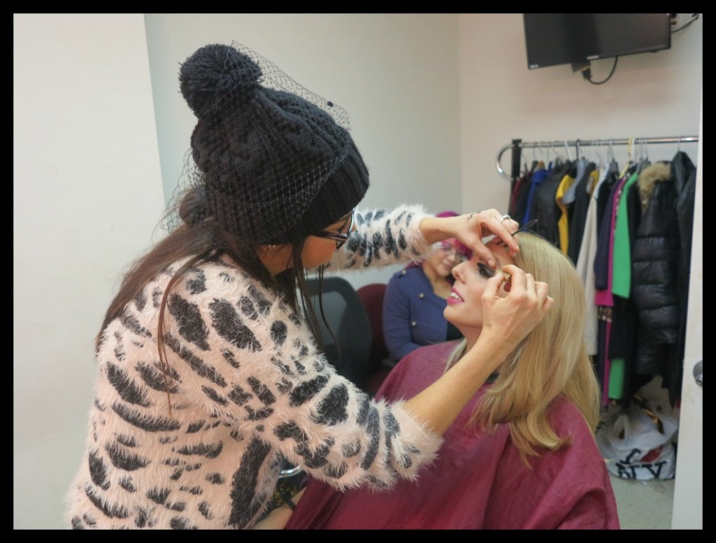 Guest film critic Chiara Spagnoli Gabardi in the make-up chair at Arise On Screen Photo Credit: Debbie Mitchell