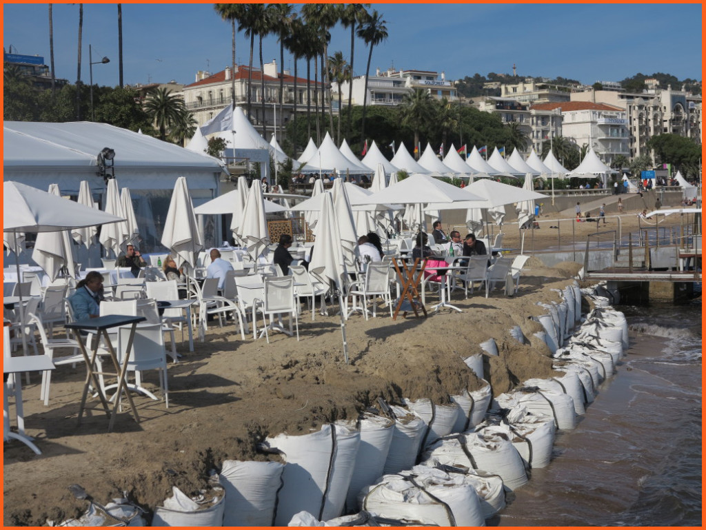 A French Riviera beach setting at the Hotel Majestic Barriere Beach. Perfect for a stand-up or a show open or show close. Photo Credit: Debbie Mitchell