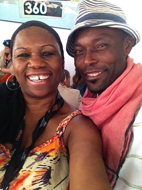 Arise On Screen Executive Producer with actor/model Jimmy Jean-Louis
