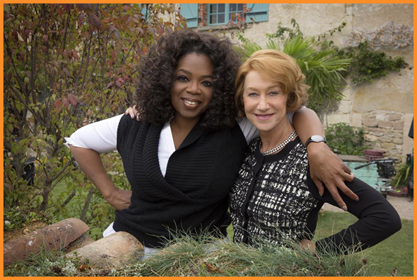 Oprah Winfrey, Producer & Actress Helen Mirren-The Hundred-Foot Journey