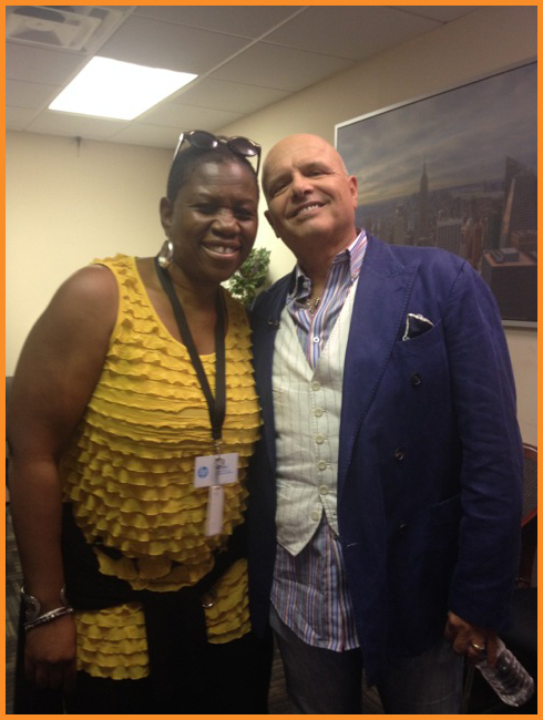 Deborah Mitchell with Joe Pantoliano. Photo credit: Michelle Lynne Madar.