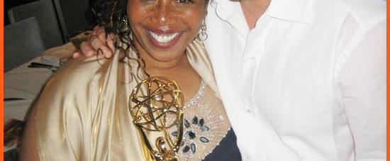 Joyce Coleman-Sampson with Jay McCraw of The Doctors in 2010