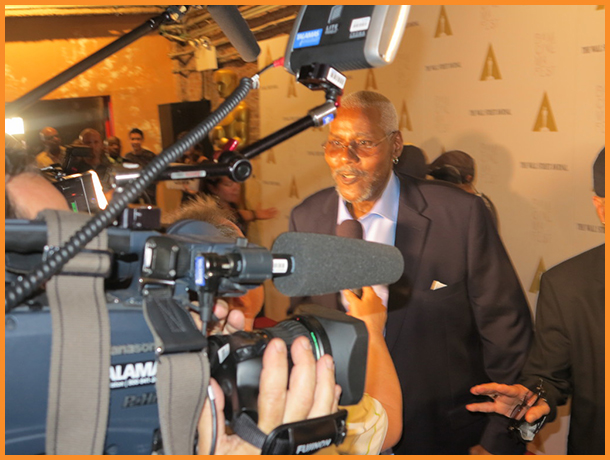 "Bill Nunn played ""Radio Raheem"" in ""Do The Right Thing"" walks the red carpet Photo Credit: Debbie Mitchell"
