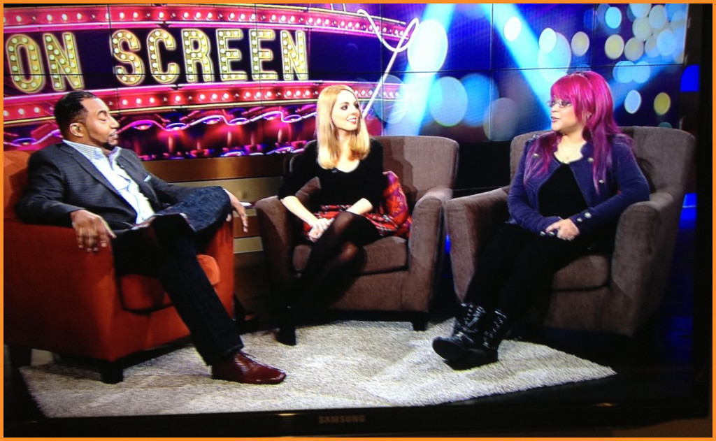 Arise On Screen host Mike Sargent, Chiara Spagnoli Gabardi and Diva Velez