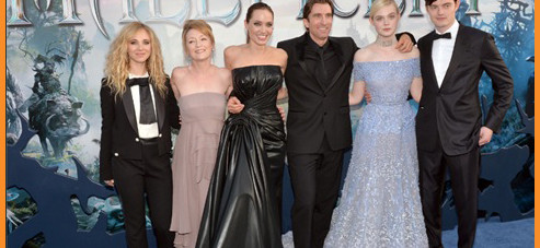 Angelina Jolie and the cast of Maleficent