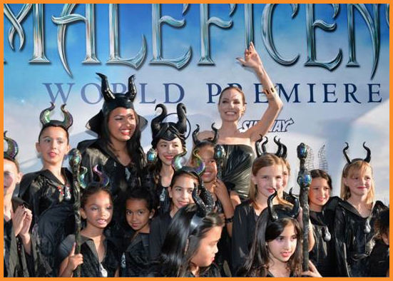 Angelina Jolie during the promotion of Maleficent