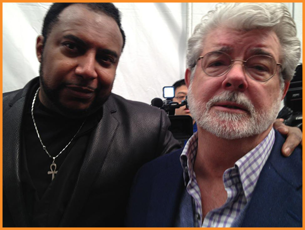 Mike Sargent with George Lucas