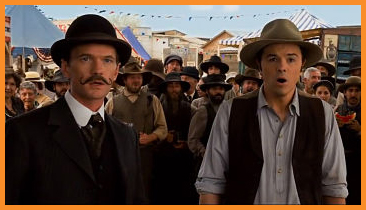 "Neil Patrick Harris and Seth MacFarlane in ""A Million Ways to Die in the West"""