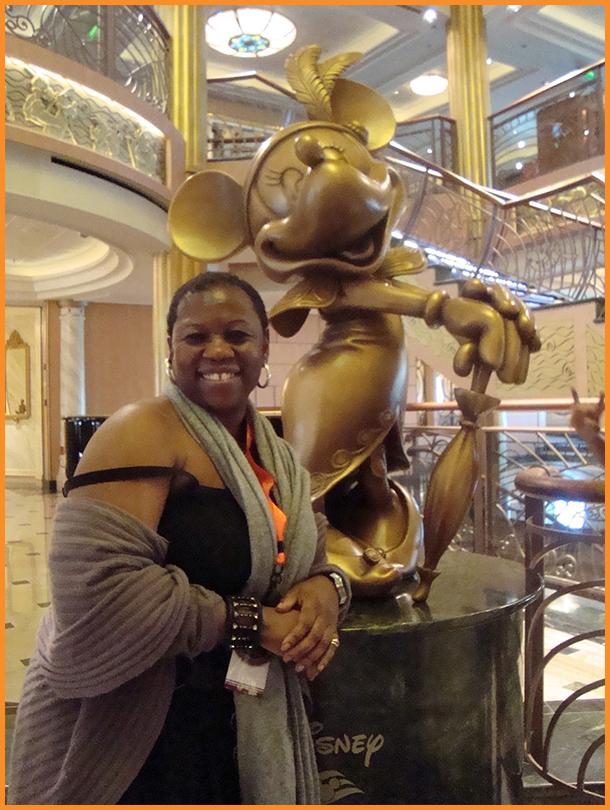 Deborah Mitchell on  Disney Fantasy Cruise Ship, 2012 Photo Credit: Debbie Mitchell