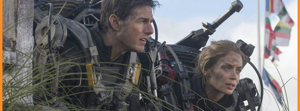 "Tom Cruise and Emily Blunt in ""Edge of Tomorrow"""