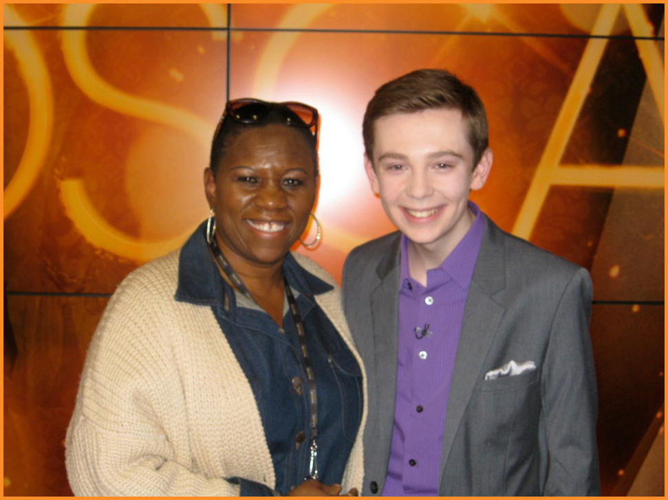 Arise On Screen Executive Producer Debbie Mitchell and Teen Film Critic Jackson Murphy Photo Courtesy of Debbie Mitchell