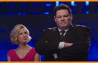 "Host Brooke Burns and Mark Labbett (""The Beast"") of ""The Chase"""