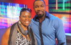 Executive Producer Debbie Mitchell with Falcon Rising star Michael Jai White Photo Credit: Nick Viagas and Deborah Mitchell Media Associates