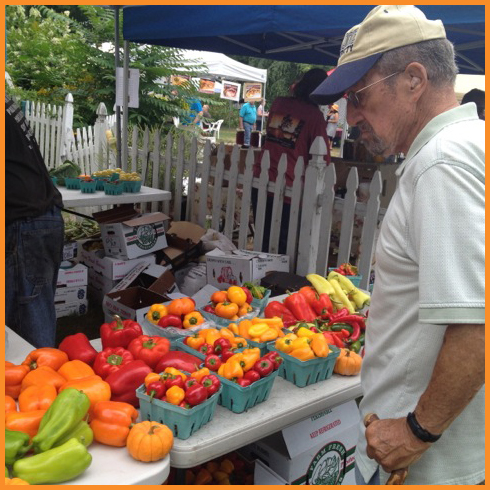 Milford's green market. Photo Credit: Debbie Mitchell and Deborah Mitchell Media Associates