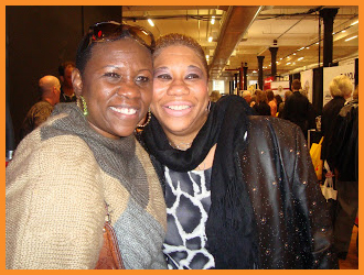 "Debbie Mitchell with LaShawn Clark- Moore. Husband Ben ""Keefe"" Clark died in 9-11Photo courtesy Debbie Mitchell"