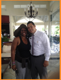 Last day of vacay with Richard Morales at Luxury Bahia Principe Esmeralda Don Pablo Collection Photo Credit: Debbie Mitchell and Deborah Mitchell Media Associates