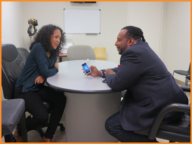 Mike Sargent with Gina Prince-Bythewood on the set of Arise On Screen