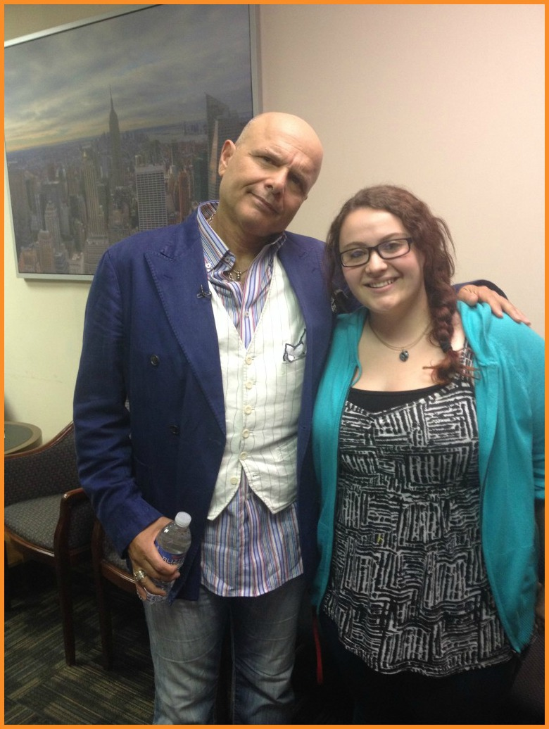 "Joe ""Joey Pants"" Pantoliano with Michelle Lynne Madar at Arise On Screen studio, NYC Photo Credit: Debbie Mitchell/Deborah Mitchell Media Associates"