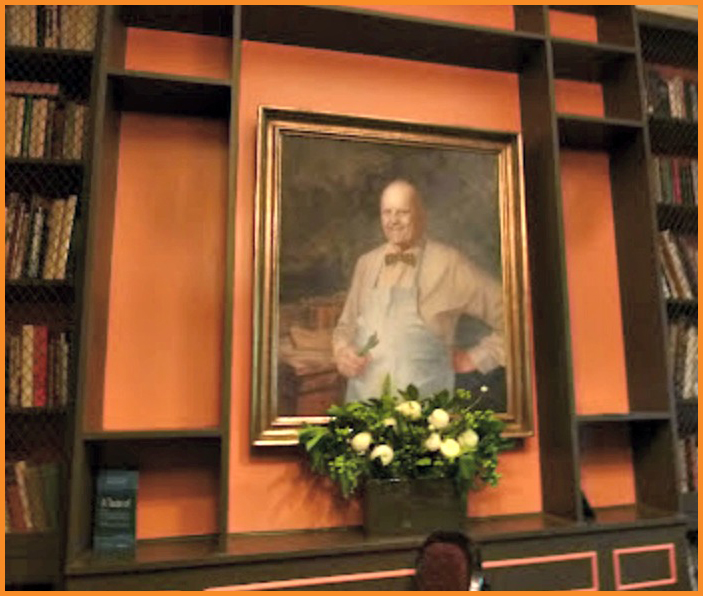James Beard Portrait at James Beard House NYC Photo Credit: Debbie Mitchell and Deborah Mitchell Media Associates