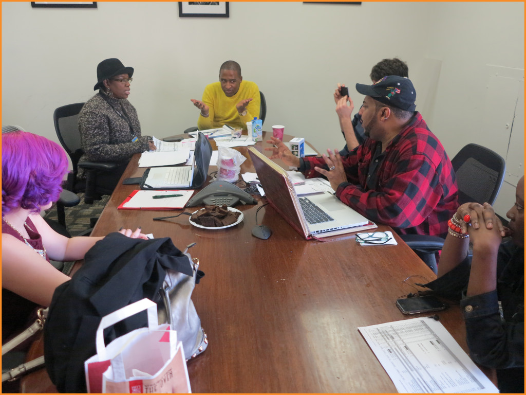 Arise On Screen first production meeting of 2015 Photo Credit: Lance Huff and Deborah Mitchell Media Associates