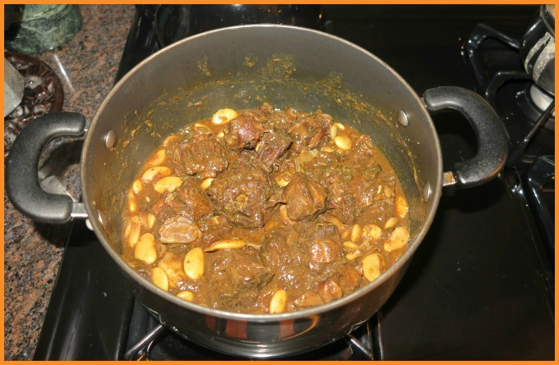 oxtail and butter beans