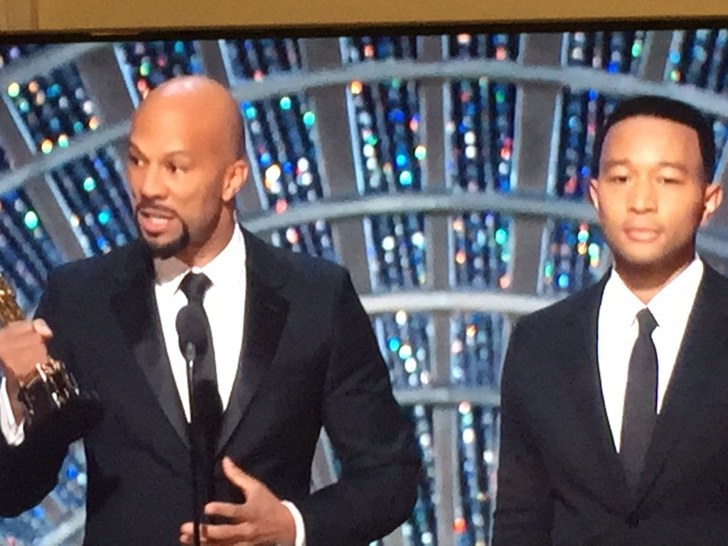 "Common and John Legend, 2015 Oscar Winners for Original Song ""Glory"" from the movie ""Selma"""