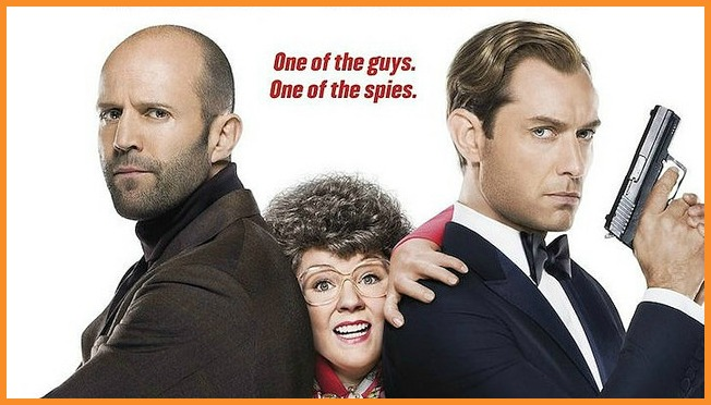Melissa McCarthy stars in Spy with Jason Statham and Jude Law.Photo courtesy of Screen Relish