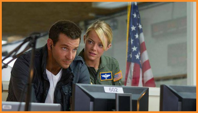 Bradley Cooper and Emma Stone star in AlohaPhoto courtesy of Sony Pictures Entertainment